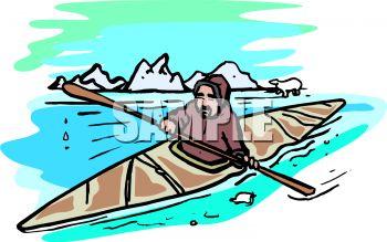 350x219 Eskimo Man In A Kayak