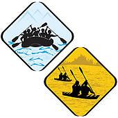 170x170 Kayak Clip Art And Illustration. 2,109 Kayak Clipart Vector Eps