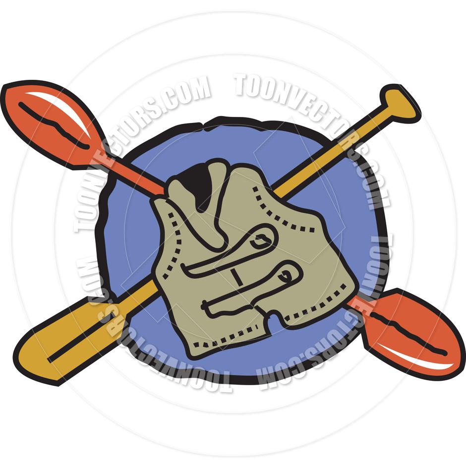 940x940 Cartoon Kayak Paddles Vector Illustration By Clip Art Guy Toon