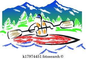 285x194 Kayak Clip Art And Illustration. 2,109 Kayak Clipart Vector Eps