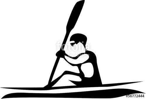 500x338 Stylized Speed Kayaking Stock Image And Royalty Free Vector Files