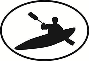 355x245 Kayaking Oval Bumper Sticker Automotive
