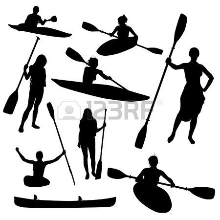Kayaking Cliparts