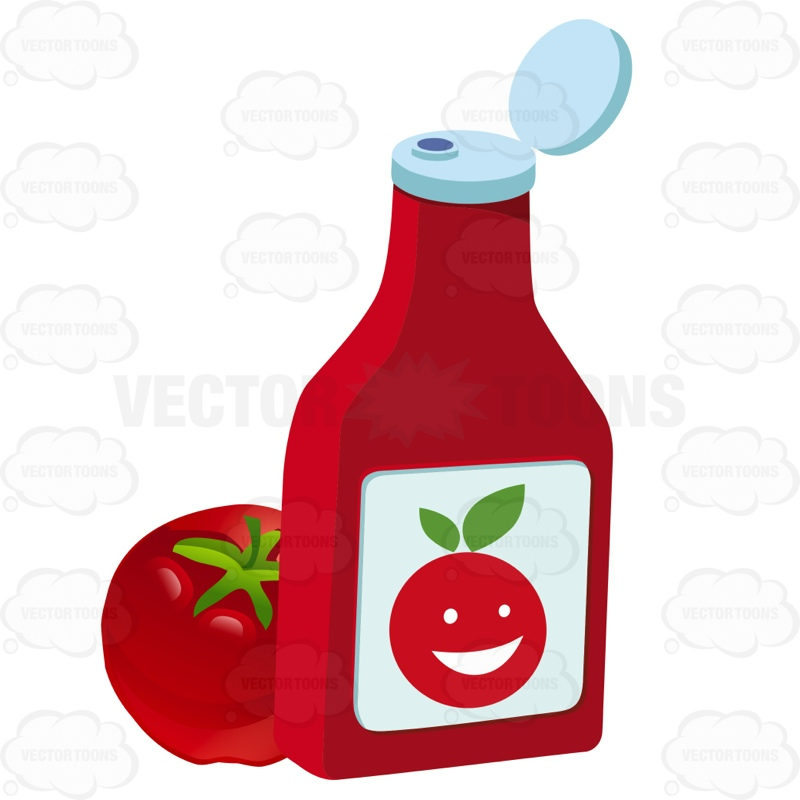 800x800 Open Ketchup Bottle Sitting Next To A Tomato Ketchup Bottles