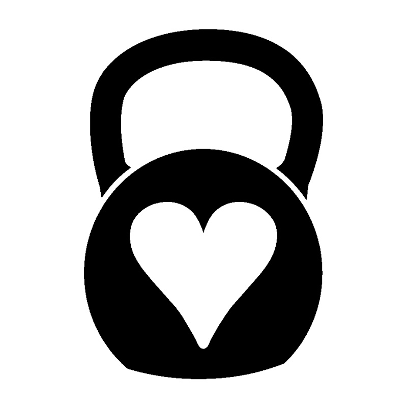 800x800 10.3cm15.1cm Kettlebell Heart Fashion Vinyl Car Sticker