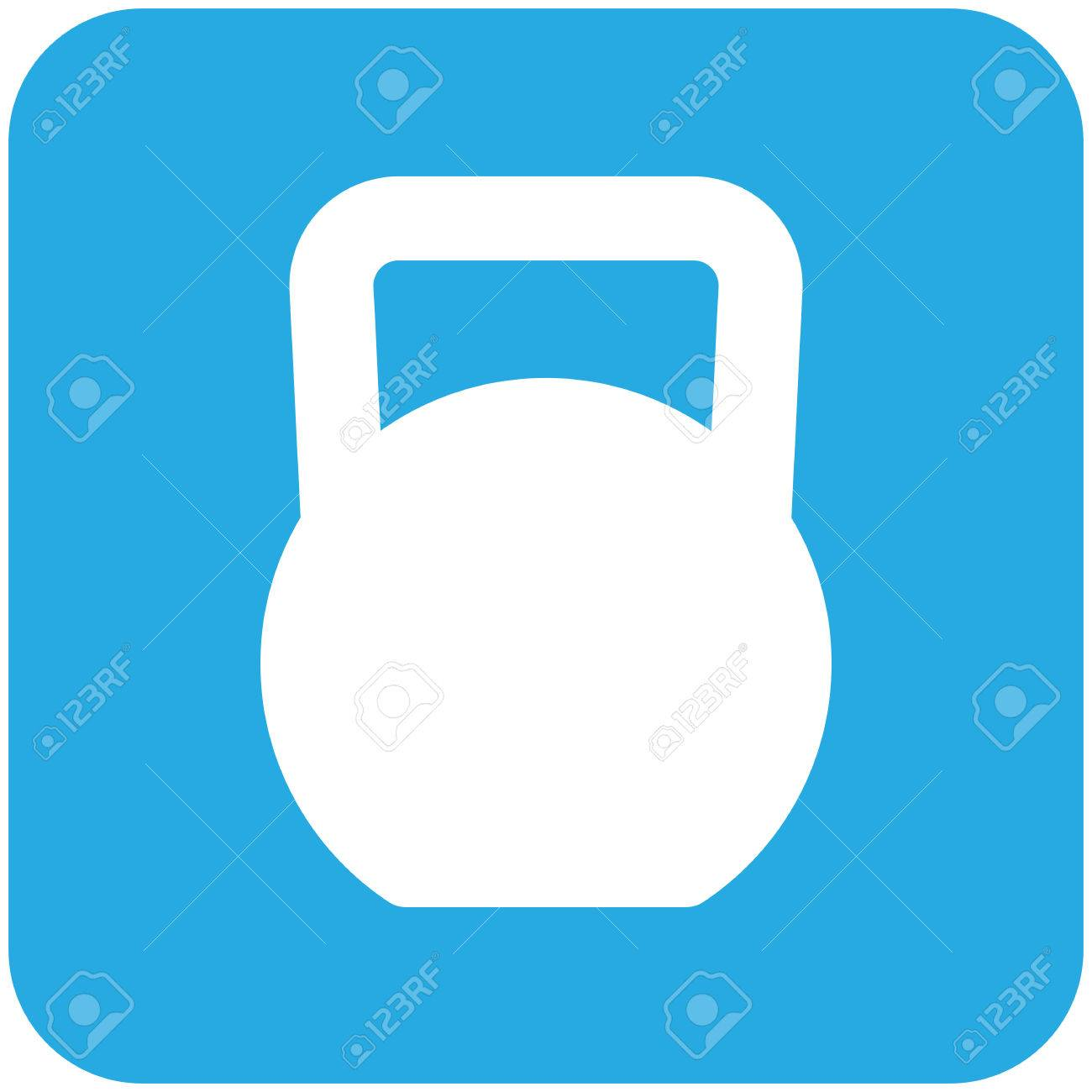 1300x1300 Kettlebell, Modern Flat Icon Royalty Free Cliparts, Vectors,
