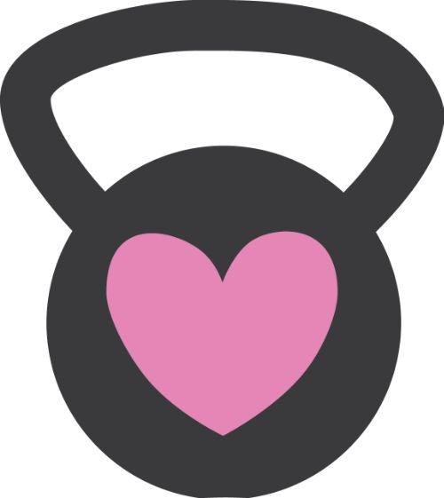 500x561 Pink Clipart Kettlebell