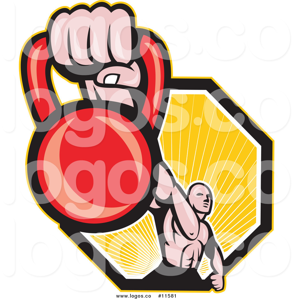 1024x1044 Royalty Free Cliprt Vector Logo Of Muscular Man Holding Out