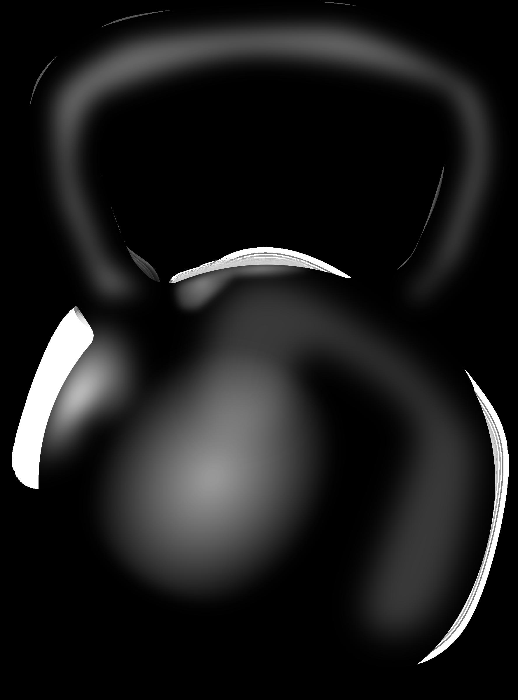 1775x2400 White Clipart Kettlebell