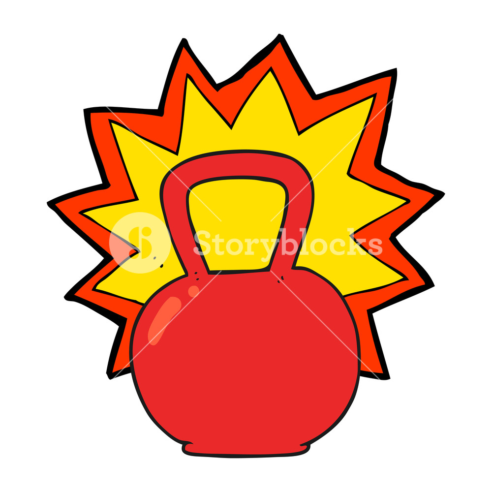 1000x1000 Freehand Drawn Cartoon Kettle Bell Royalty Free Stock Image