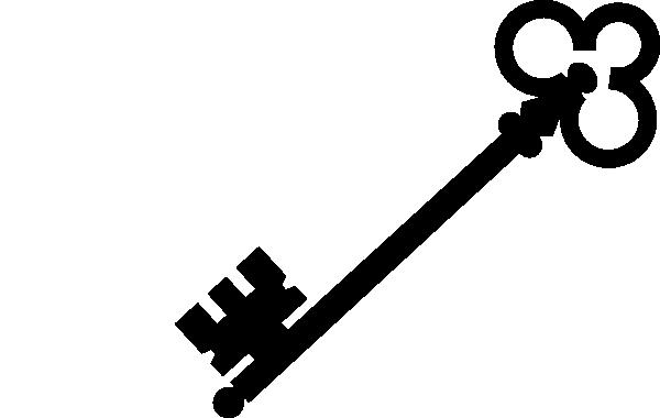 600x380 Black Olde Key Clip Art