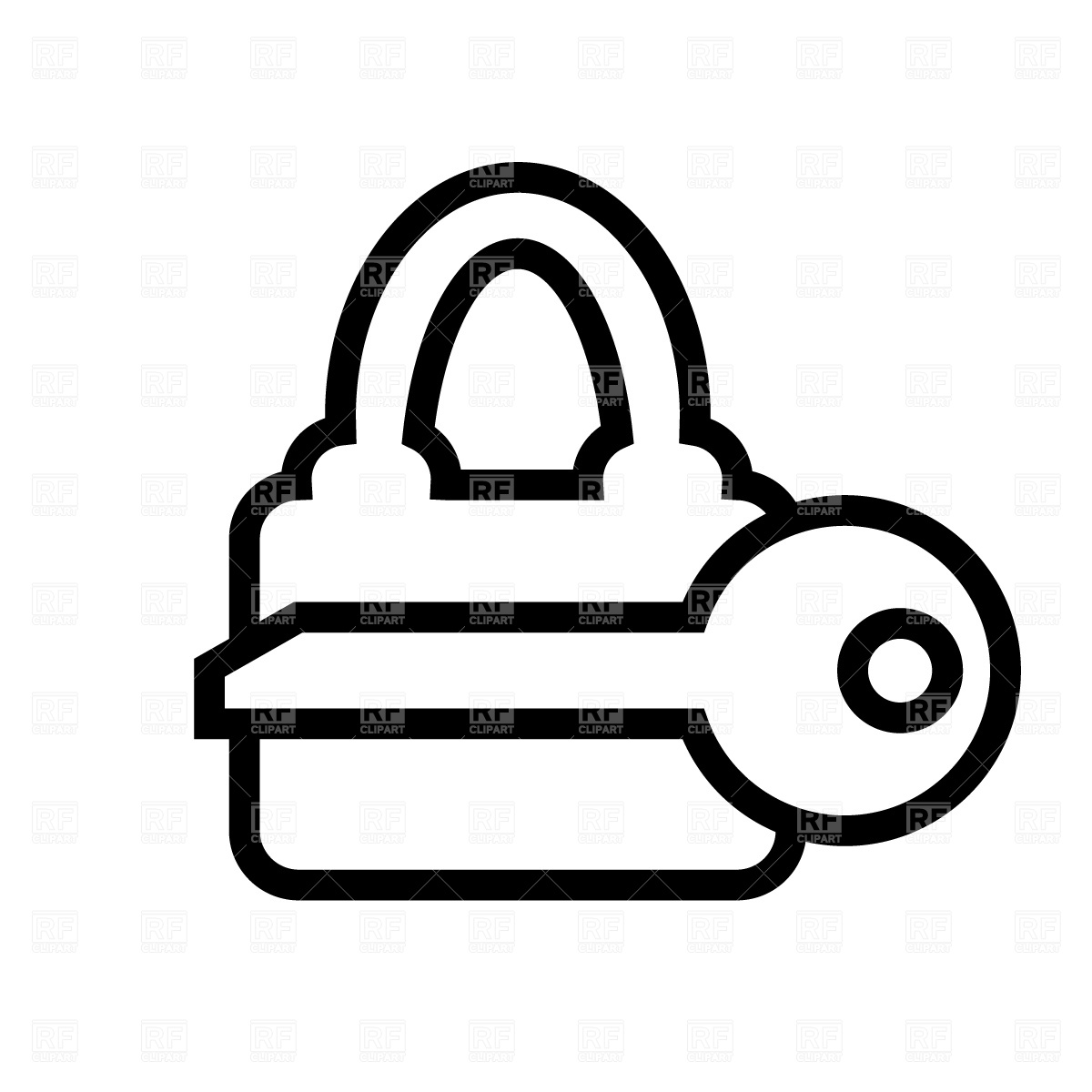 1200x1200 Lock And Key Clipart