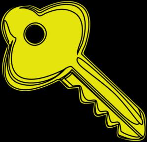 299x288 Yellow Key Clip Art