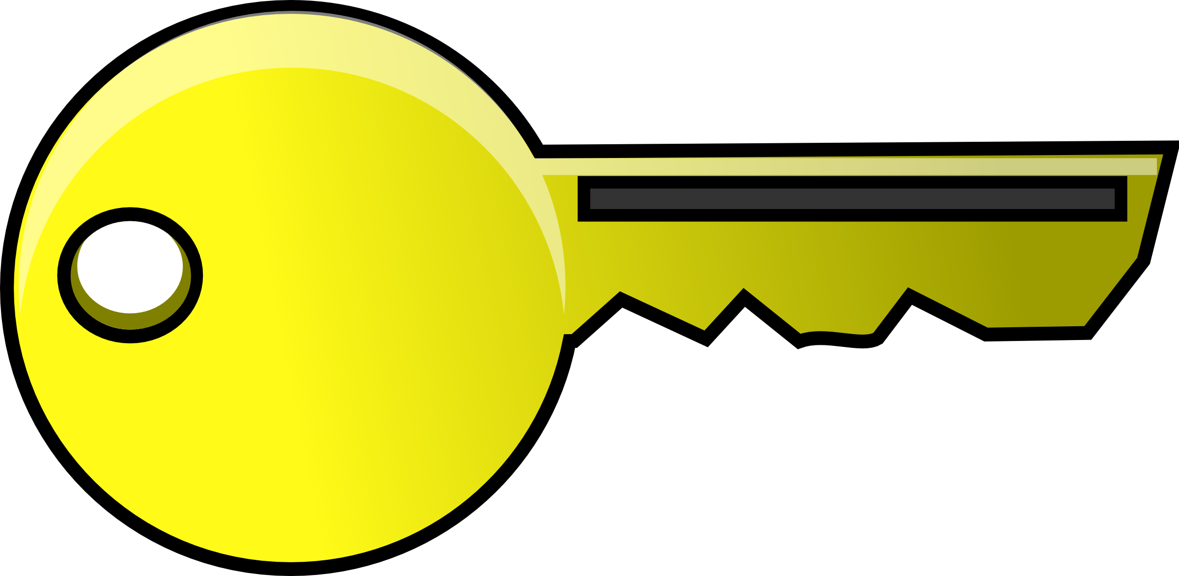 2400x1174 Gold Key Clipart 2