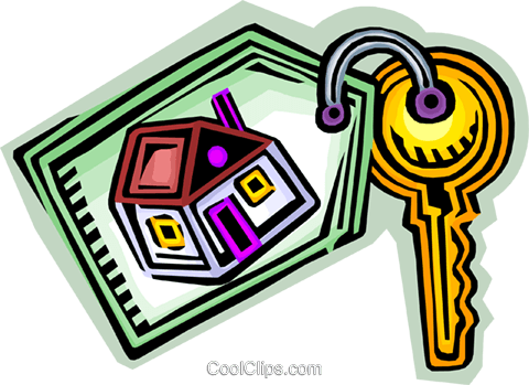 480x349 New Home Key Royalty Free Vector Clip Art Illustration Vc068117