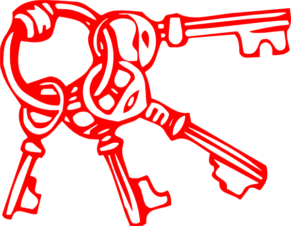 600x467 Key Clipart Red