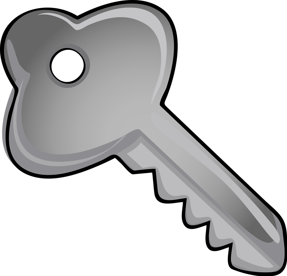 958x922 Silver Clipart Silver Key