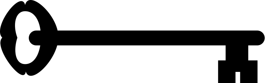 900x284 Skeleton Key Clip Art