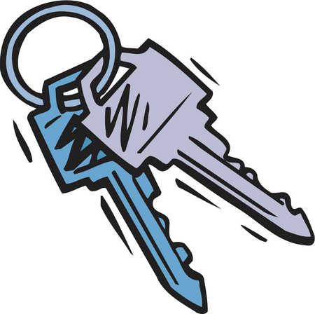 450x448 Cartoon Key Clipart 2071861