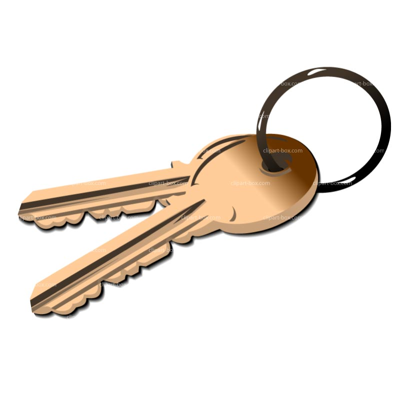 800x800 House Key Clipart
