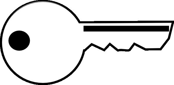 600x292 Key Clipart Black