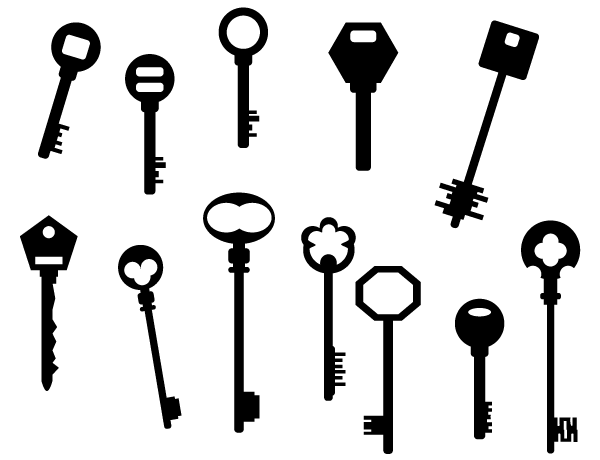 600x460 Key Silhouettes Free Vector Art 123freevectors