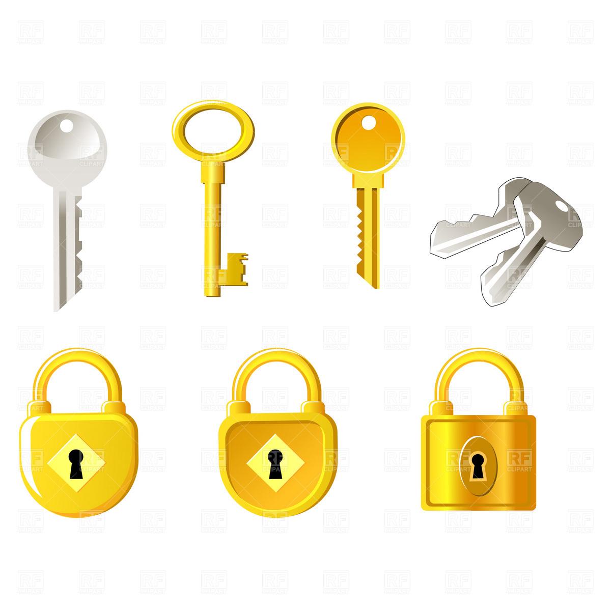 1200x1200 Locks And Keys Royalty Free Vector Clip Art Image