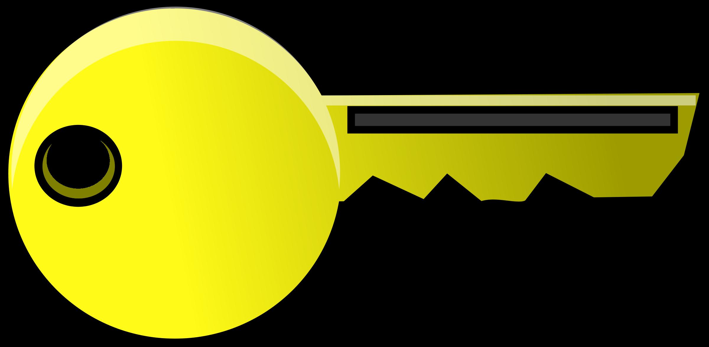 2400x1175 Golden Key Outline Clip Art