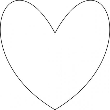 425x425 Heart Outline Vector