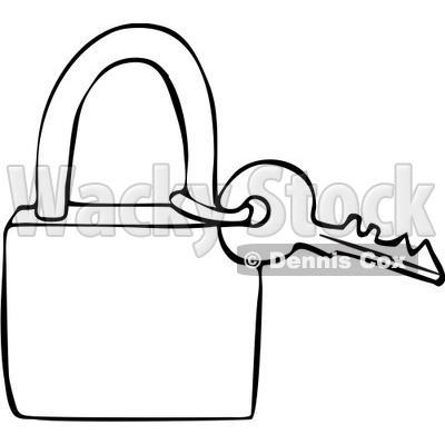 400x400 Outlined Key And Padlock