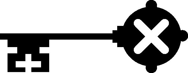 600x234 Skeleton Key Clipart