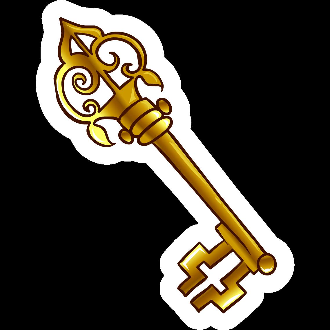 1138x1138 Gold Skeleton Key Clipart