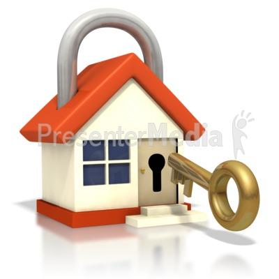 400x400 House Lock Key Insert Door