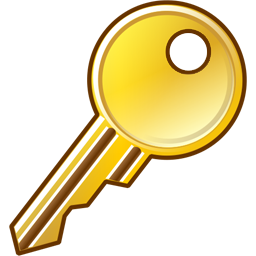256x256 Key Four Isolated Stock Photo By