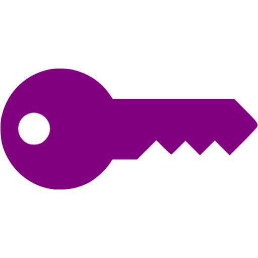 512x512 Purple Key Icon
