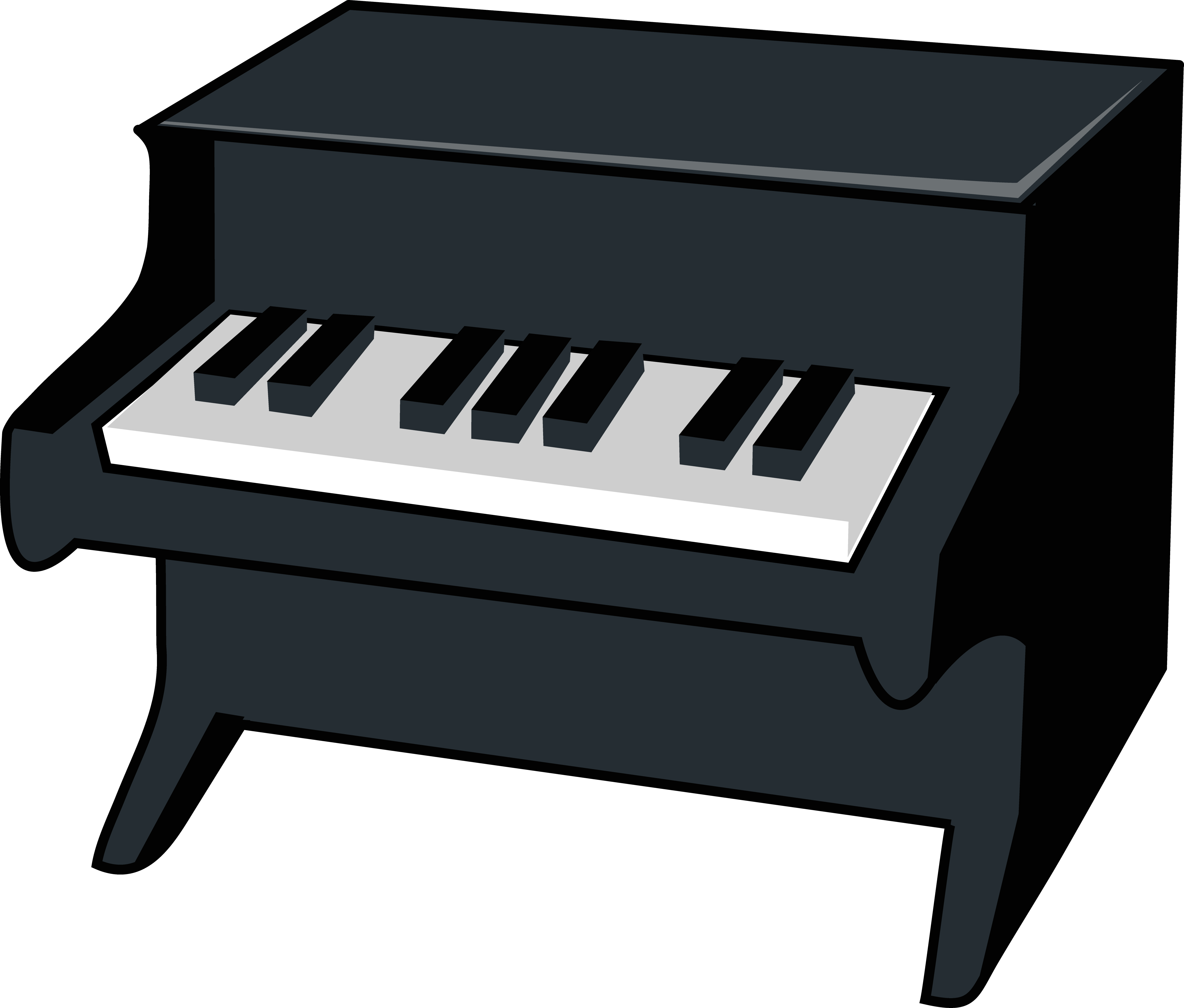 5047x4297 Miniature Piano Vector Illustration