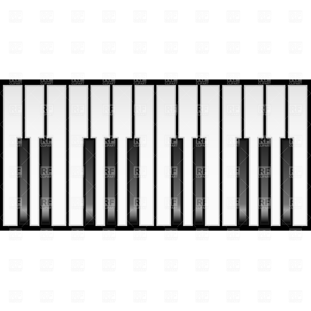 1200x1200 Piano Keyboard Royalty Free Vector Clip Art Image