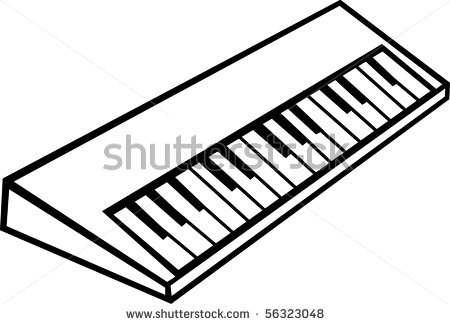 450x324 Keyboard Clipart Drawn