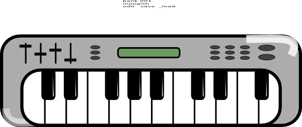 600x253 Keyboard Clipart Musical Keyboard