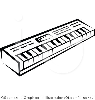 400x420 Keyboard Clipart Outline