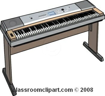350x321 Keyboard Instrument Clipart