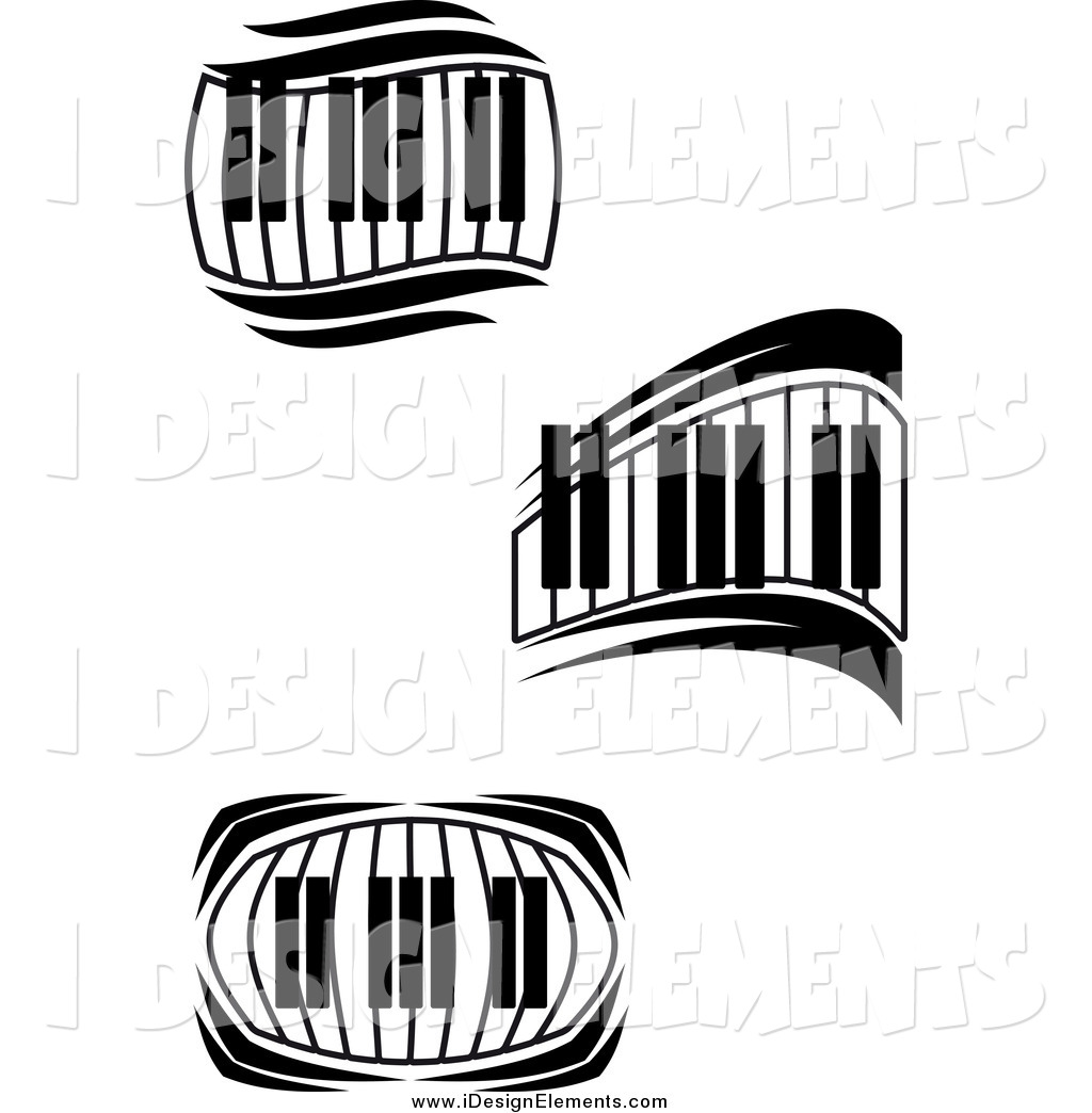 1024x1044 Wavy Piano Keyboard Clipart