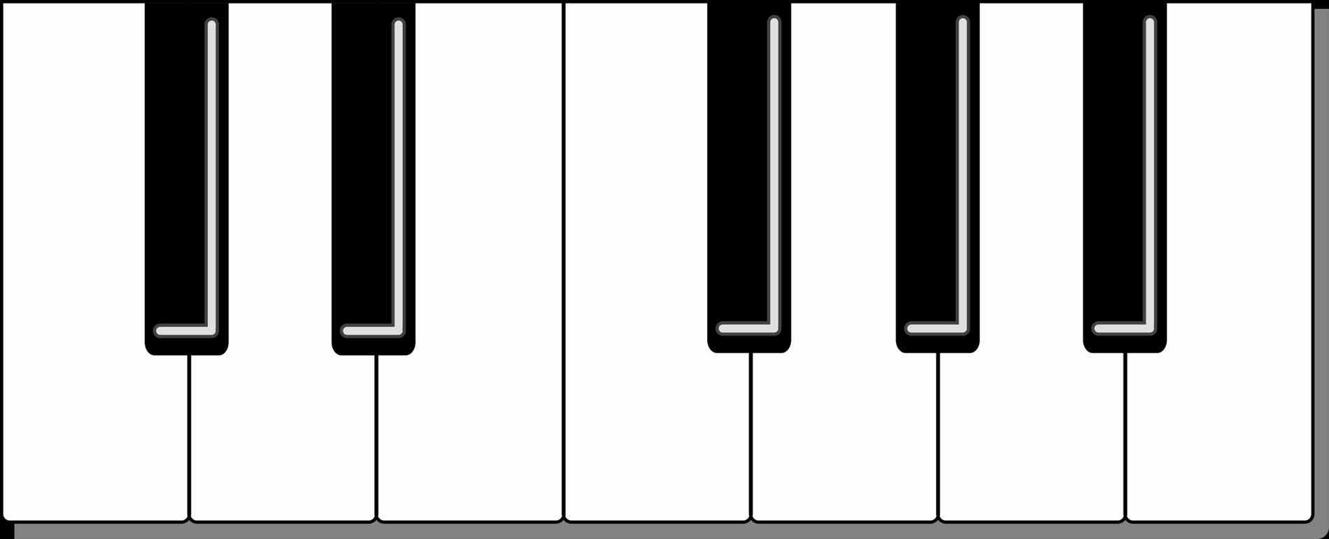 1900x771 Piano Keyboard Clipart