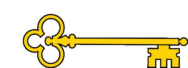 600x219 Golden Key Clip Art