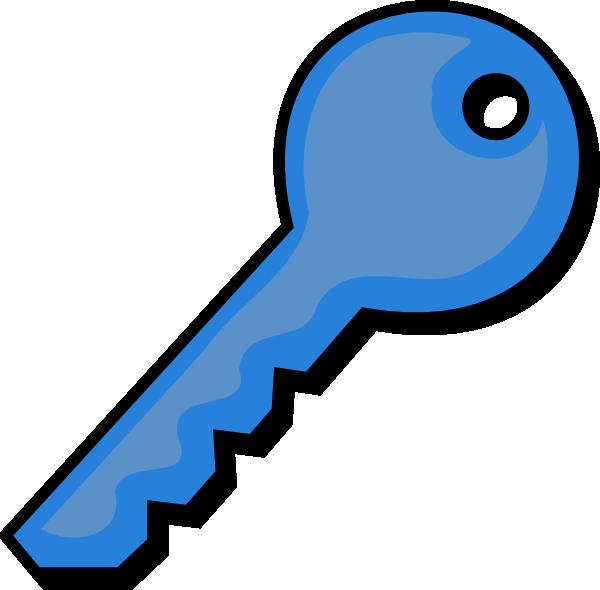 600x590 Blue Key Clip Art