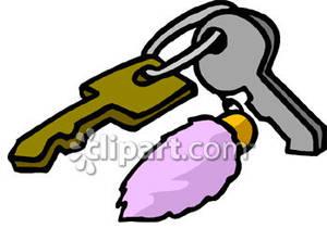 300x210 Clip Art Key Chain Clipart