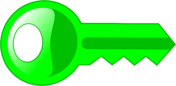 600x294 Key Clipart Colored Key
