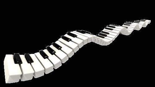 500x281 Piano Keys Clip Art Png Png Mart