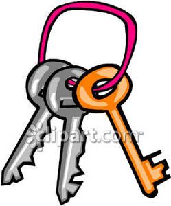 249x300 Key Ring And Keys Clipart