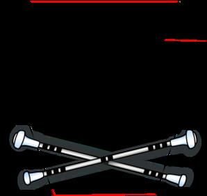 298x282 Baton Keystone Clip Art